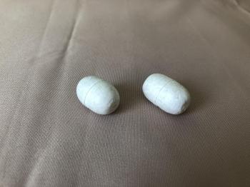 Поплавок рыболовный для оснастки сетематериалов # 3 (пенопласт) белый